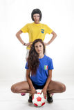 Models for world football brazil Royalty Free Stock Images