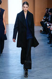 Modelsanne vloet loopt de baan in Derek Lam Fashion Show tijdens MBFW-Daling 2015 Royalty-vrije Stock Foto