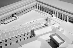 Modelschaal van een nieuw gebouw van het architectuurproject Royalty-vrije Stock Foto's
