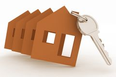 Modelsl houses symbol and key Stock Image
