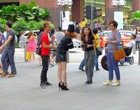 Modelspruit in Singapore Royalty-vrije Stock Foto's