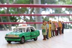 Modeltaxi in Hongkong royalty-vrije stock afbeelding