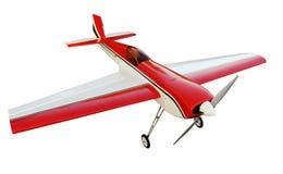 Modelvliegtuig op een witte achtergrond stock foto's