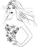 Modemädchen stock abbildung
