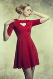 Modemädchen mit romantischer Art Lizenzfreies Stockfoto