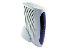 Modem. White modem over white background Royalty Free Stock Images
