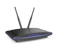 Modem with blue light Royalty Free Stock Images