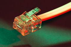 Modem cable Stock Images