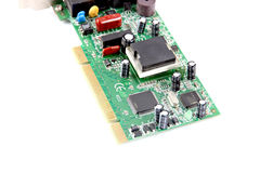 The modem Computer equipment circuit board. Stock Photography