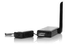Modem d'USB 3G d'isolement Photo stock