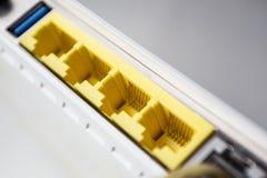 Modem delle porte Ethernet fotografia stock libera da diritti
