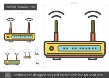 Modem hardware line icon. Stock Images