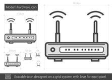 Modem hardware line icon. Royalty Free Stock Photos