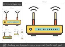 Modem hardware line icon. Stock Photo