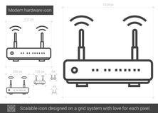 Modem hardware line icon. Royalty Free Stock Photo