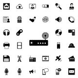 Modem icon. Detailed set of minimalistic icons. Premium graphic design. One of the collection icons for websites, web design, mobi. Le app on colored background Vector Illustration