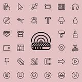 Modem outline icon. Detailed set of minimalistic line icons. Premium graphic design. One of the collection icons for websites, web. Design, mobile app on Royalty Free Illustration
