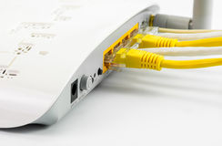 Modem router network hub Stock Photos