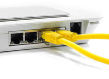 Modem router network hub Stock Image