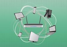 Modem tech device Stock Images