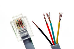 Modem / telephone cable royalty free stock photography