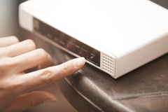 Modem using Royalty Free Stock Images