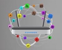 Modem wireless multimedia Stock Image