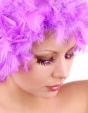 Modemakeup med blanka ögonfranser Royaltyfri Fotografi