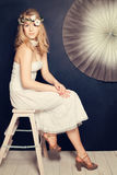 Modemodell för elegant kvinna Arkivbilder