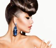 Modemodell Girl Royaltyfria Bilder
