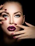 Modemodell Girl Face Royaltyfri Bild