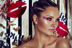 Modemodell Girl Feriekvinna Fotografering för Bildbyråer