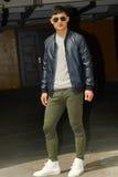 Modemodell, män Fotografering för Bildbyråer