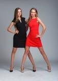 modemodeller två Royaltyfri Fotografi