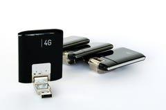 Modems de radio d'USB GPRS 3G 4G Photographie stock