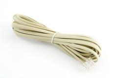 Modemu biały Kabel zdjęcie stock