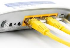 Modemu routera sieci centrum Zdjęcia Royalty Free