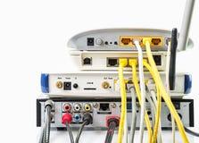 Modemu routera sieci centrum Zdjęcie Royalty Free