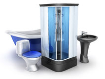 Moden łazienki wyposażenie Zdjęcie Stock