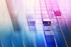 Конспект офисного здания Moden как предпосылка дела нерезкости Стоковые Изображения RF