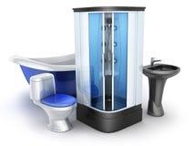 Moden-Badezimmerausrüstung Stockfoto