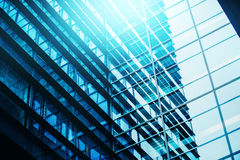 Moden budynku biurowego Windows Repeative Biznesowy wzór Zdjęcie Stock