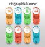 Moden infographics sztandar Zdjęcie Royalty Free