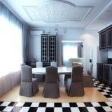 Moden Interior Room With White Sofa Stock Photos