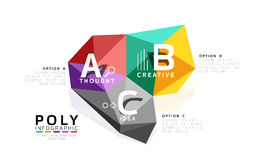 Moden low poly infographics template Stock Image