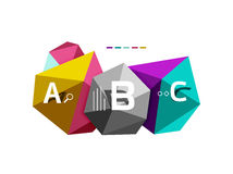 Moden low poly infographics template Royalty Free Stock Photos