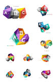 Moden low poly infographics template Stock Photos