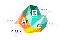 Moden low poly infographics template Stock Photography