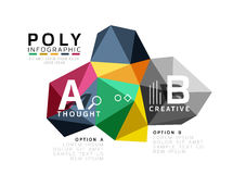 Moden low poly infographics template Stock Images