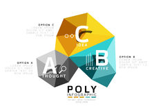 Moden low poly infographics template Stock Photo